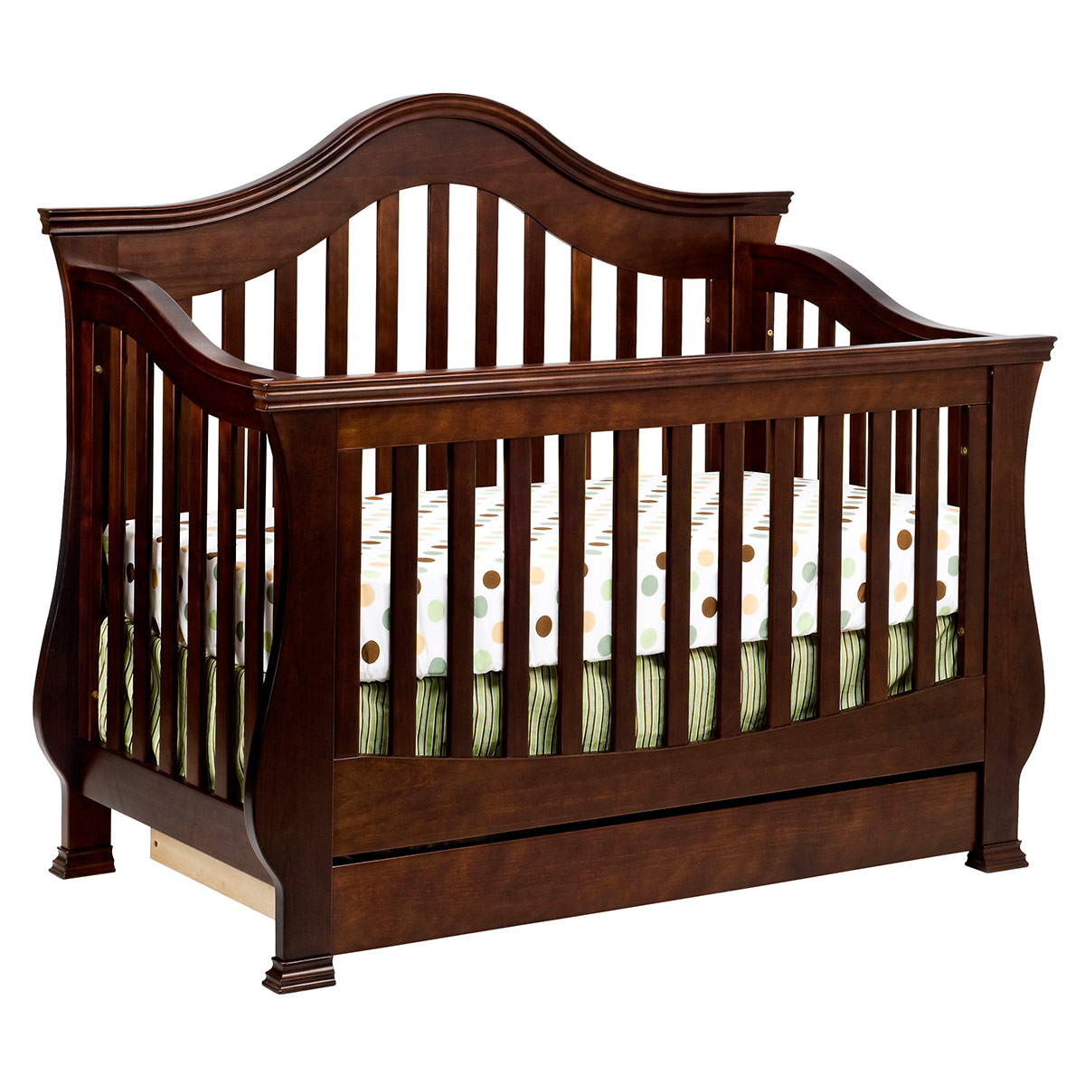 Espresso crib for sale - Million Dollar Baby Classic Ashbury 4 In 1 Sleigh Convertible Crib With Toddler Rail In Espresso Free Shipping