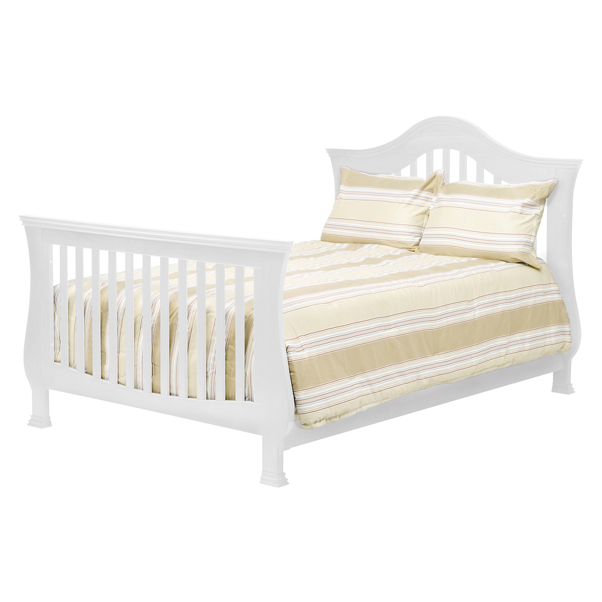 million dollar baby ashbury 4in1 sleigh convertible crib with toddler rail in white free shipping