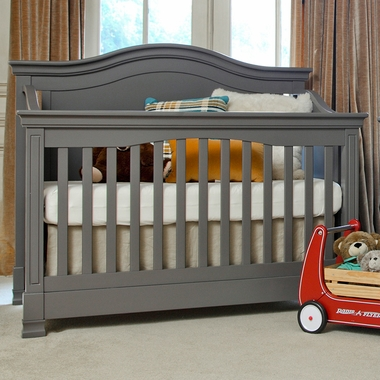 Million Dollar Baby Classic Louis 4-in-1 Convertible Crib with Toddler Rail in Manor Grey - Click to enlarge