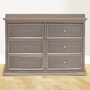 Million Dollar Baby Foothill 6 Drawer Dresser in Weathered Grey