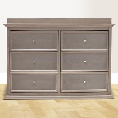 Million Dollar Baby Foothill 6 Drawer Dresser in Weathered Grey - Click to enlarge