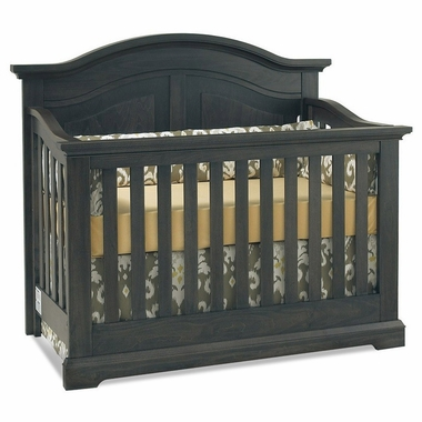 Munire Chatham Curve Top Crib in Slate - Click to enlarge