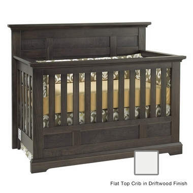 Munire Chatham Flat Top Crib in Driftwood - Click to enlarge