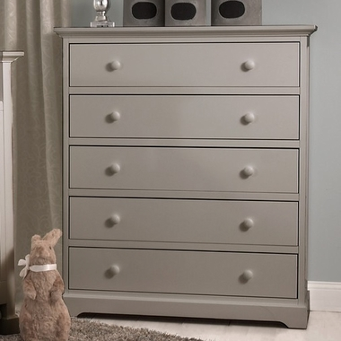 Munire Chesapeake 5 Drawer Chest in Light Grey - Click to enlarge