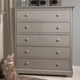 Munire Chesapeake 5 Drawer Chest in Light Grey