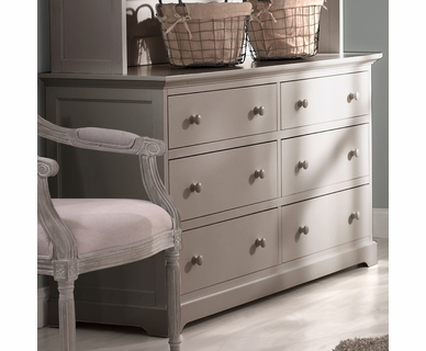Munire Chesapeake Double Dresser in Light Grey