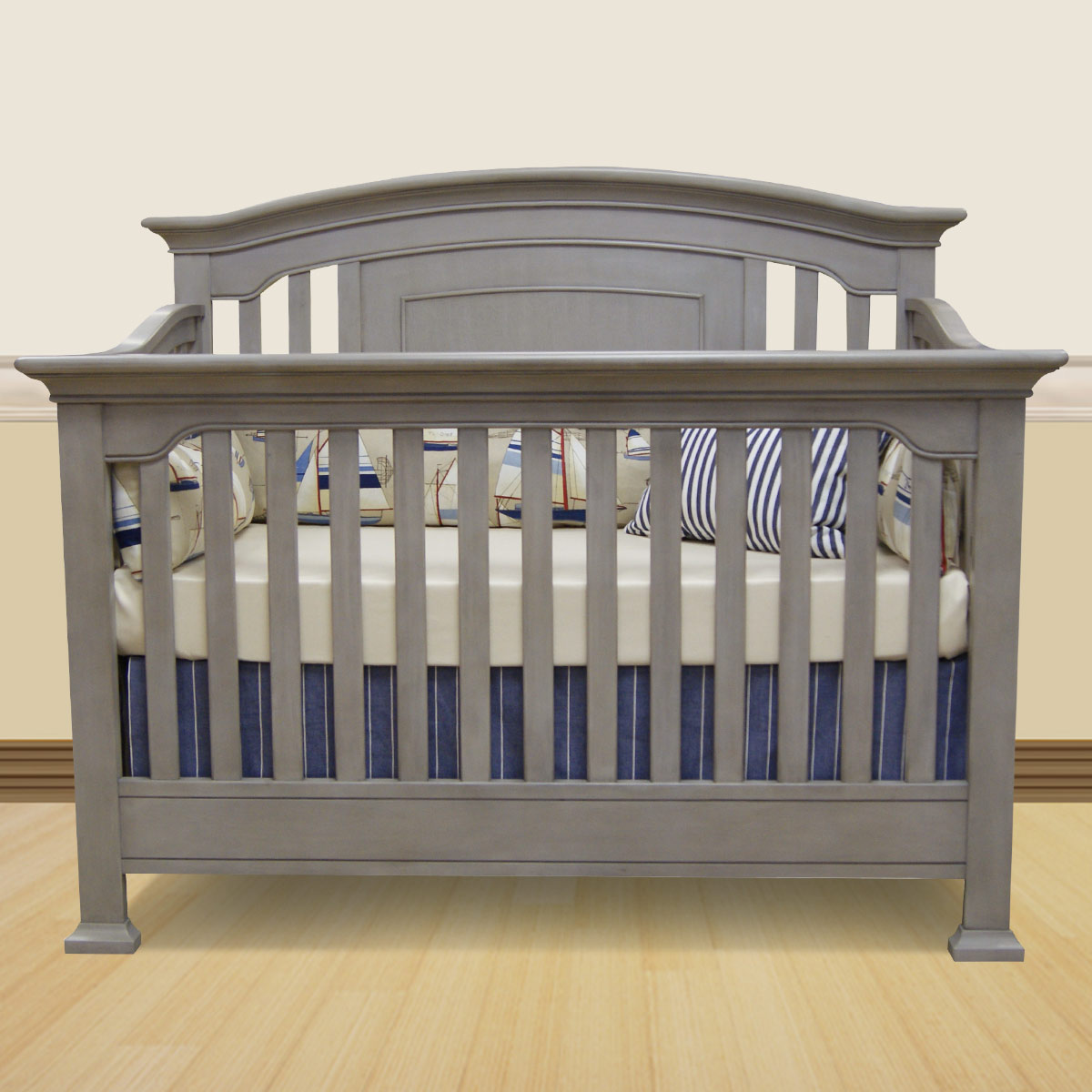 crib chest westwood shipping cribs cashew piece stone free convertible in and dresser panel design drawer harbor set nursery