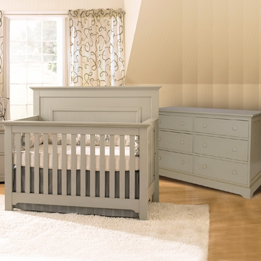 Munire Nursery Set - Chesapeake Chesapeake Lifetime Crib and Double Dresser in Light Grey - Click to enlarge