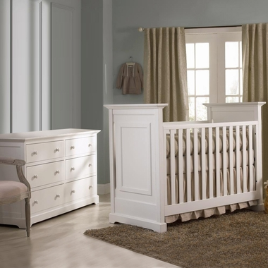 Munire Nursery Set - Chesapeake Classic Crib and Double Dresser in White - Click to enlarge