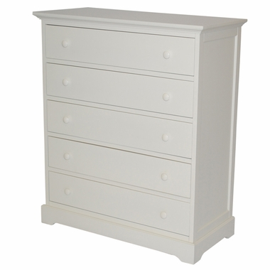 Munire Chesapeake 5 Drawer Chest in White - Click to enlarge