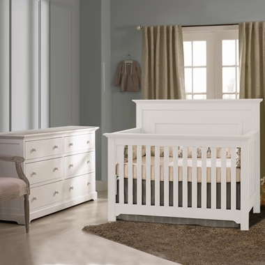 Munire Nursery Set - Chesapeake Lifetime Crib and Double Dresser in White - Click to enlarge
