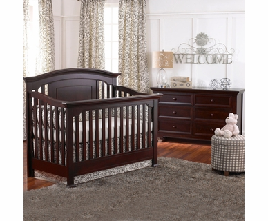 Munire Nursery Set - Medford Lifetime Crib and Double Dresser in Espresso