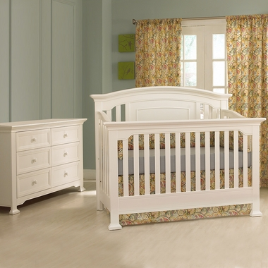 Munire Nursery Set - Medford Lifetime Crib and Double Dresser in White - Click to enlarge