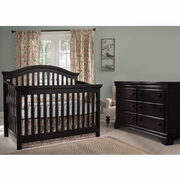 Munire Nursery Set - Rhapsody Lifetime Crib and Double Dresser in Espresso