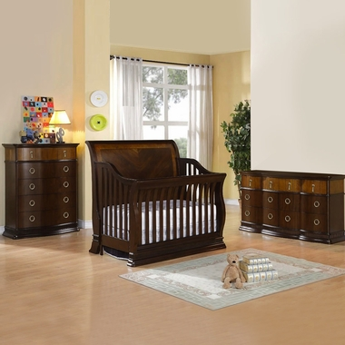 Munire Portland 3 Piece Nursery Set - Convertible Crib, 5 Drawer Chest and 6 Drawer Dresser in Cinnamon - Click to enlarge