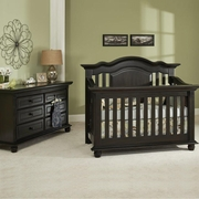 Munire Valencia 2 Piece Nursery Set - Convertible Crib and 6 Drawer Dresser in Slate