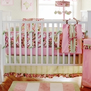 My Baby Sam Paisley Splash In Pink 3 Piece Crib Set