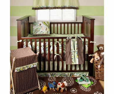 My Baby Sam Paisley Splash Lime 4 Piece Baby Crib Bedding Set