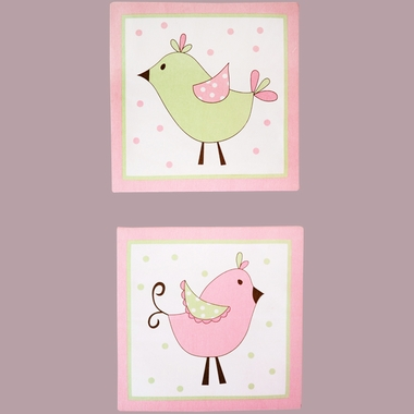 My Baby Sam Pixie Baby 2 Piece Wall Decor in Pink