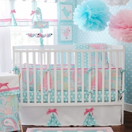 My Baby Sam Pixie Baby In Aqua 3 Piece Crib Set