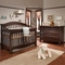 Natart 2 Piece Nursery Set - Avalon Convertible Crib and Double Dresser in Cocoa