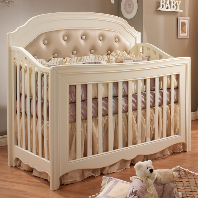 Beau Natart 3 Piece Nursery Set   Allegra Convertible Crib, Three Drawer Dresser  And Lingerie Chest In French White FREE SHIPPING