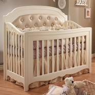 Natart Allegra Convertible Crib in French White