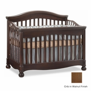 Natart Avalon Convertible Crib in Walnut
