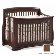 Natart Bella Convertible Crib in Walnut