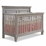 Natart Belmont Convertible Crib in Stone Gray