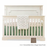 Natart Ithaca Convertible Crib in Sugar Cane