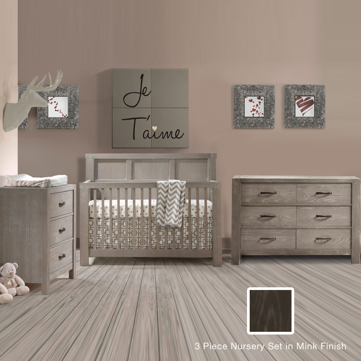 Natart crib for sale - Natart Rustico 3 Piece Nursery Set 4 In 1 Convertible Crib 3 Drawer Dresser And Double Dresser In Owl Free Shipping