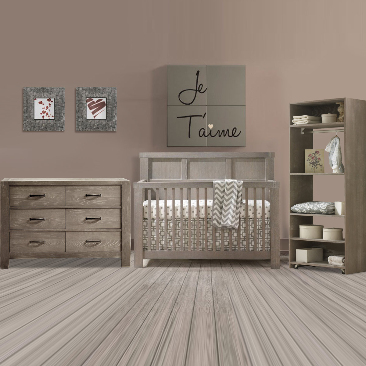 Natart crib for sale - Natart Rustico 3 Piece Nursery Set 4 In 1 Convertible Crib Double Dresser And Convertible Wardrobe System In Sugar Cane Free Shipping