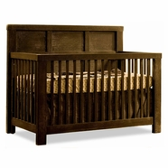 Natart Rustico Convertible Crib in Mink