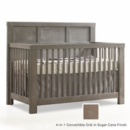 Natart Rustico Convertible Crib in Sugar Cane