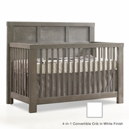 Natart Rustico Convertible Crib in White