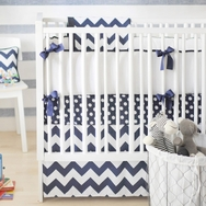 Navy Zig Zag Bedding Collection by New Arrivals