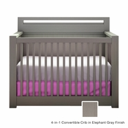 Nest Milano Convertible Crib in Elephant Gray