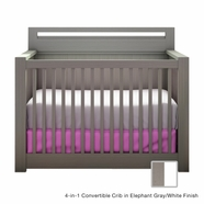Nest Milano 4-in-1 Convertible Crib in French White