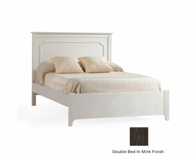 Nest Provence Double Bed with Low Profile Footboard in Mink