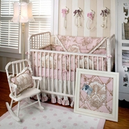 New Arrivals English Rose 4 Piece Baby Crib Bedding Set
