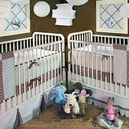 Blue Harlequin Crib Bedding Collection by New Arrivals