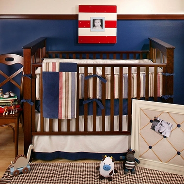 New Arrivals Snips and Snails 4 Piece Crib Bedding Set
