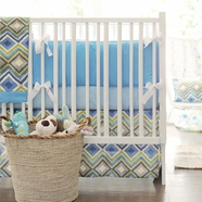 New Arrivals Street of Dreams in Blue 4 Piece Nursery Set