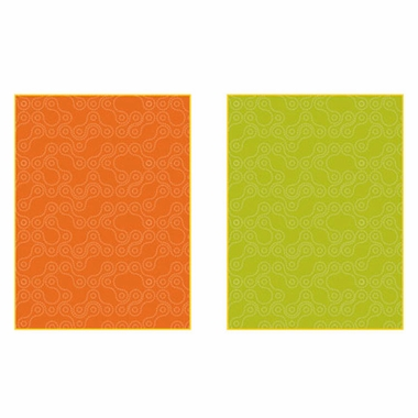 NotNeutral Links Baby Quilt in Persimmon Orange, Green, Yellow and White