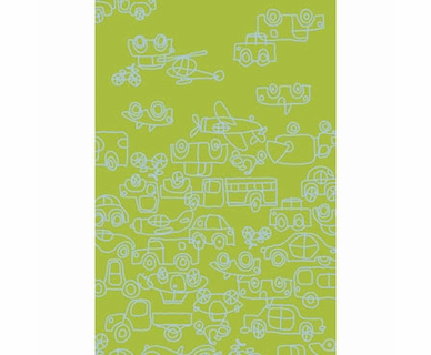 NotNeutral Transport 5' by 8' Rug in Ozone Blue and Lotus Green