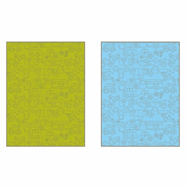 NotNeutral Transport Baby Quilt in Green, Ozone Blue and Sable