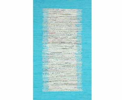 nuLOOM Kinderloom Flatweave Tasha Cotton Area Rug in Turquoise