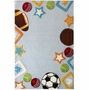 nuLOOM Kinderloom Hand Tufted Rec Area Rug in Sky
