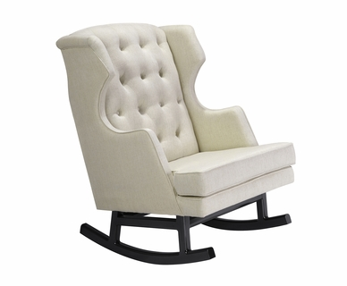 Nursery Works Empire Rocker - Weave Fabric in Oatmeal with Light Legs